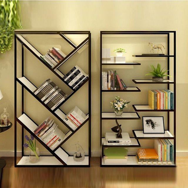 Muebles de madera maciza forjado estante del almacenaje for Soporte estanteria ikea