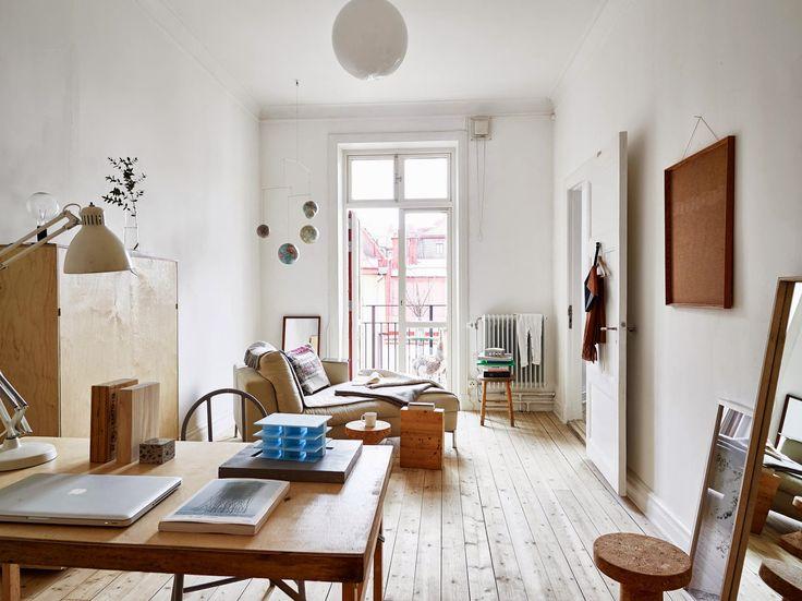 beautiful light & wooden living room