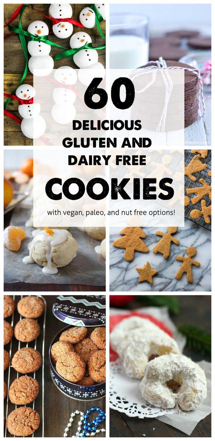 60 Gluten Free and Dairy Free Christmas Cookies - @TheFitCookie #glutenfree #dairyfree