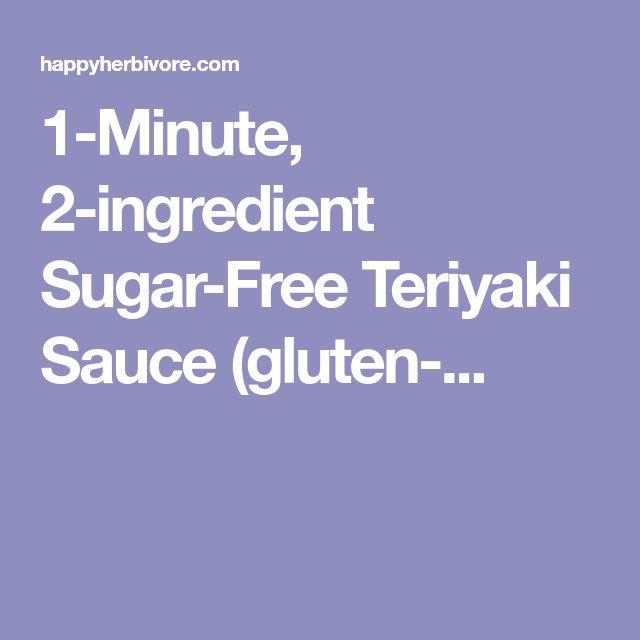 1-Minute, 2-ingredient Sugar-Free Teriyaki Sauce (gluten-...