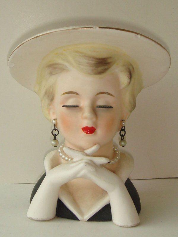 226 Best Vintage Head Vase Images On Pinterest Head Planters
