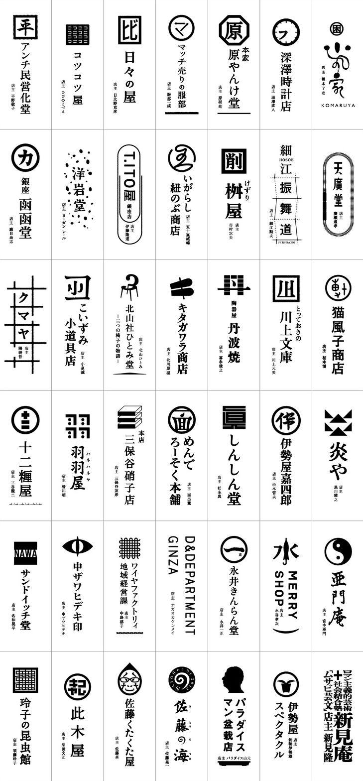 Japanese shop logos