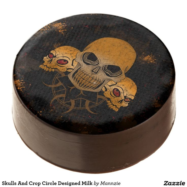 Skulls And Crop Circle Designed Milk Chocolate Dipped Oreo
