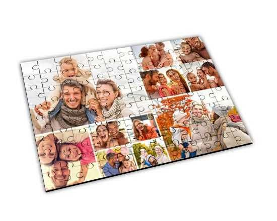 Crea un collage di foto sul puzzle