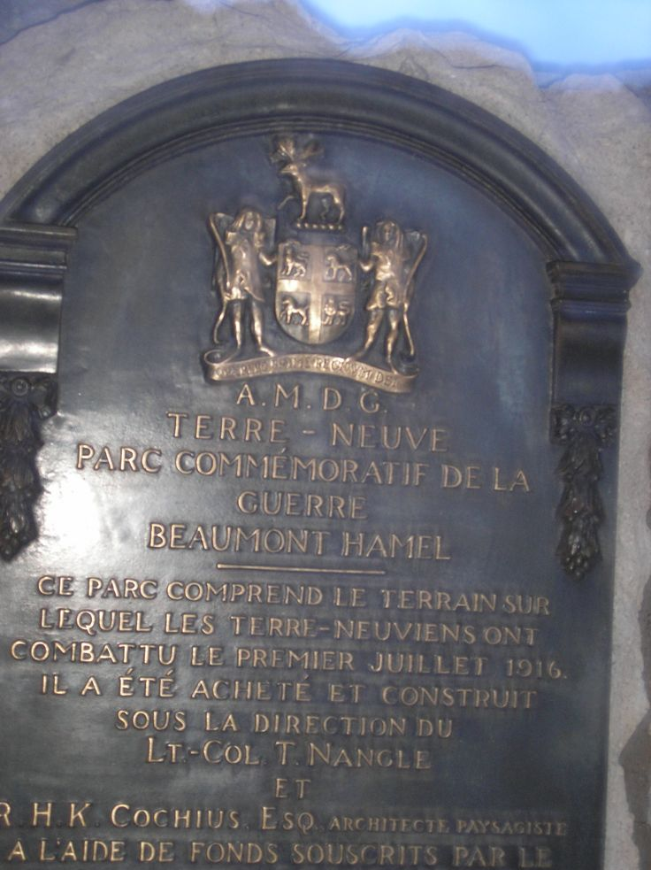 Terre - Neuve :  Parc commémoratif de la Guerre -  Beaumont - Hamel