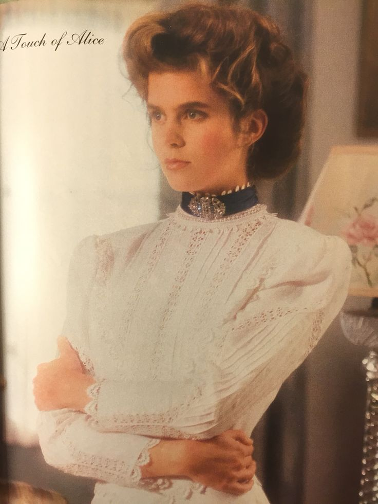 Spring 1988. Victoria Magazine. Jessica McClintock dress.