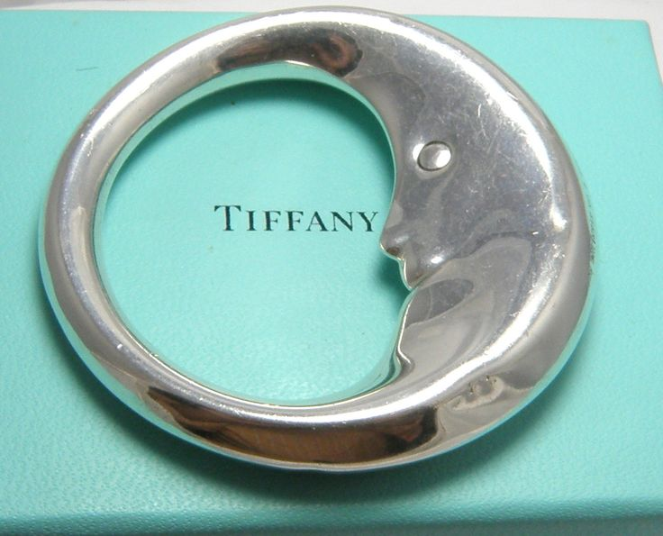 Details About Vintage Tiffany Amp Co Sterling Silver Moon