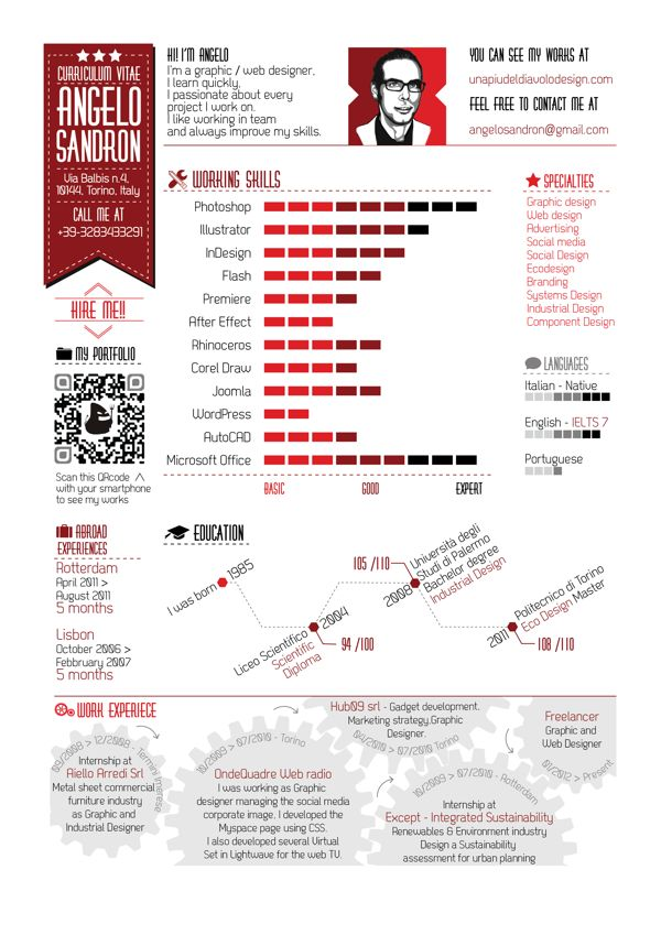 Graphic Design Resumes 50 awesome resume designs that will bag the job hongkiat Examples Of Creative Graphic Design Resumes Infographics 2012