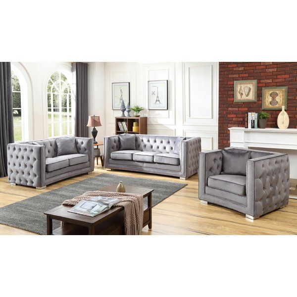 Smollin Configurable Living Room Set Living Room Sets Grey
