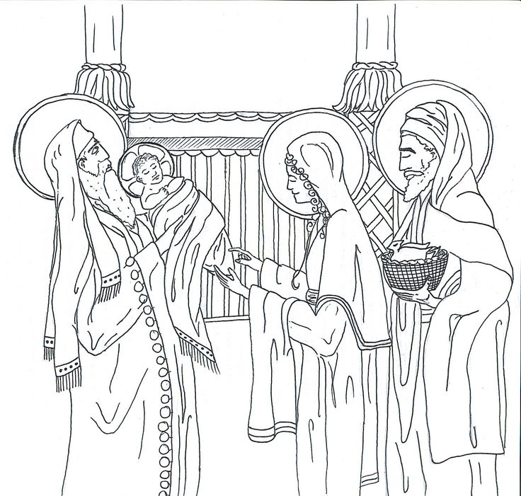 Catholic Coloring Page For Kids Of The Presentation In Temple