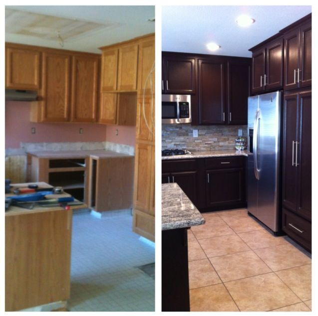 Kitchen Transformation Before And After: Kitchen Before And After With Paint, Cabinet Makeover With