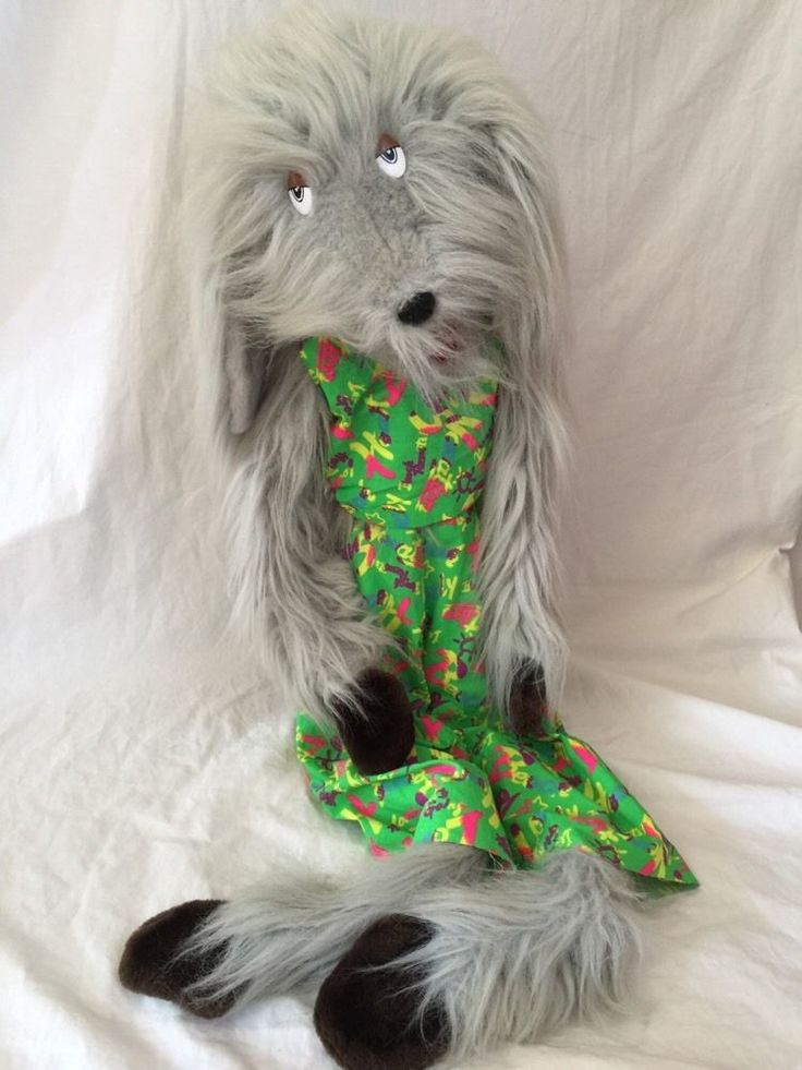 VTG James Bone Dog 1989 Stuffed Plush Puppet Ventriloquist Hairy 3 Feet! #Kashimiertoys