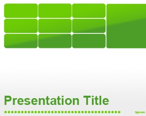 Free green business PowerPoint slide design for presentations