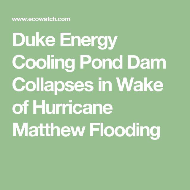 Duke Energy Cooling Pond Dam Collapses in Wake of Hurricane Matthew Flooding