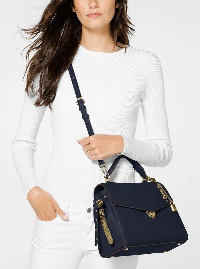 MICHAEL Michael Kors Bristol Medium Leather Satchel