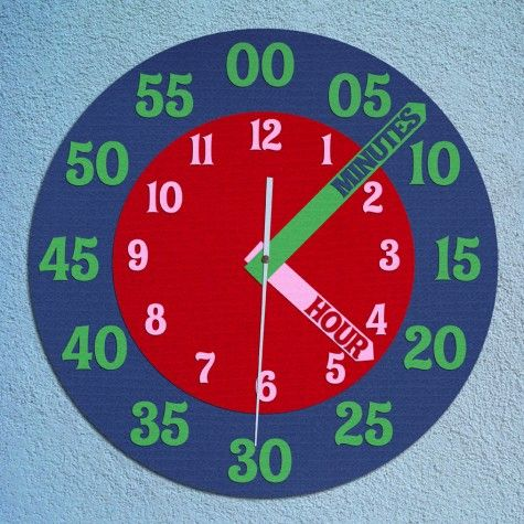DIY Analog Clock for learning to tell time