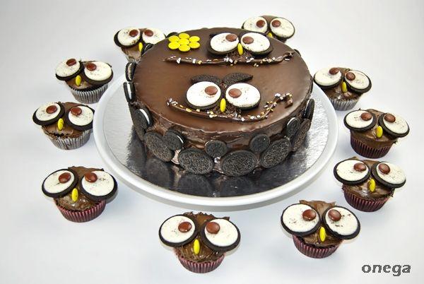 Tarta de búhos | Receta de tarta infantil con galletas oreo | Magia en mi cocina | Recetas fáciles de cocina paso a paso