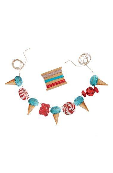 Tin Parade 'Sweets' Paper & Ribbon Garland available at #Nordstrom