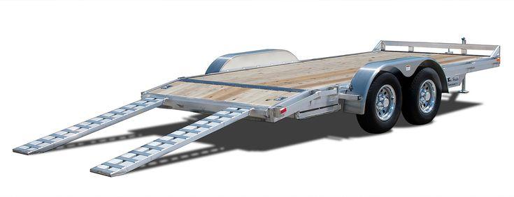 Deluxe 10,000 GVWR Aluminum Car Trailer - Wood Floor