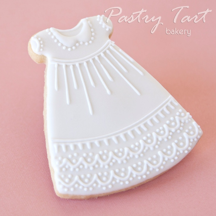 Christening Gown Cookie Favors
