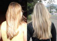 antes e depois de engrossar o cabelo