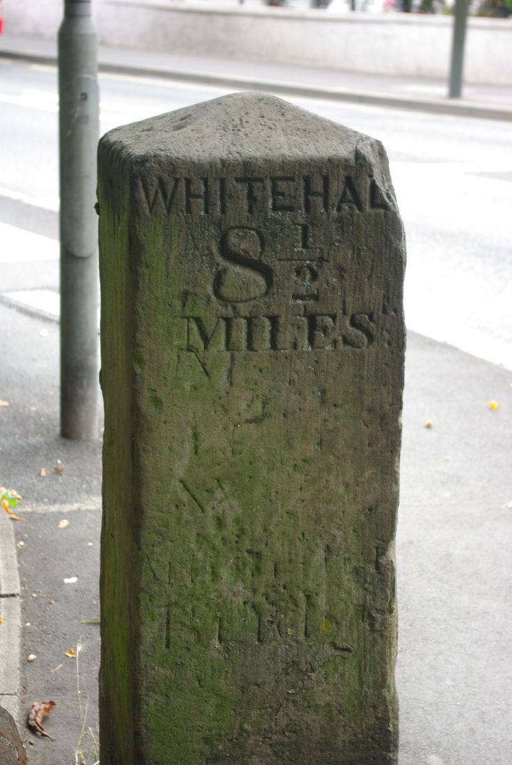 Milestone, London Road,  near cricket Green