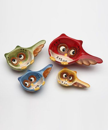 Loving this Owl Measuring Spoon Set on #zulily! #zulilyfinds