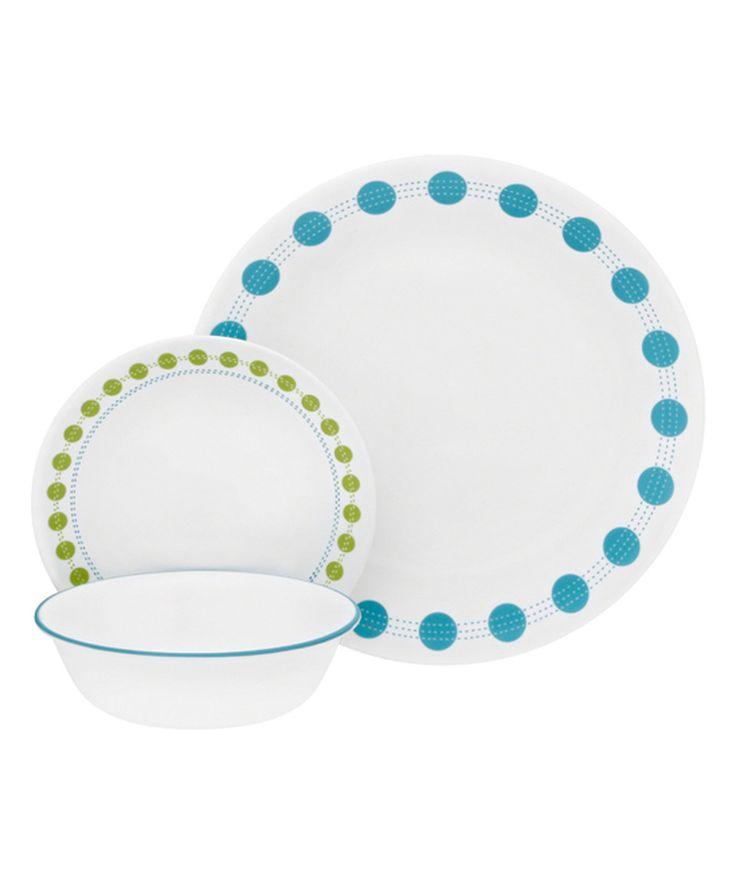 Love this South Beach 18-Piece Dinnerware Set by Corelle on #zulily! #zulilyfinds