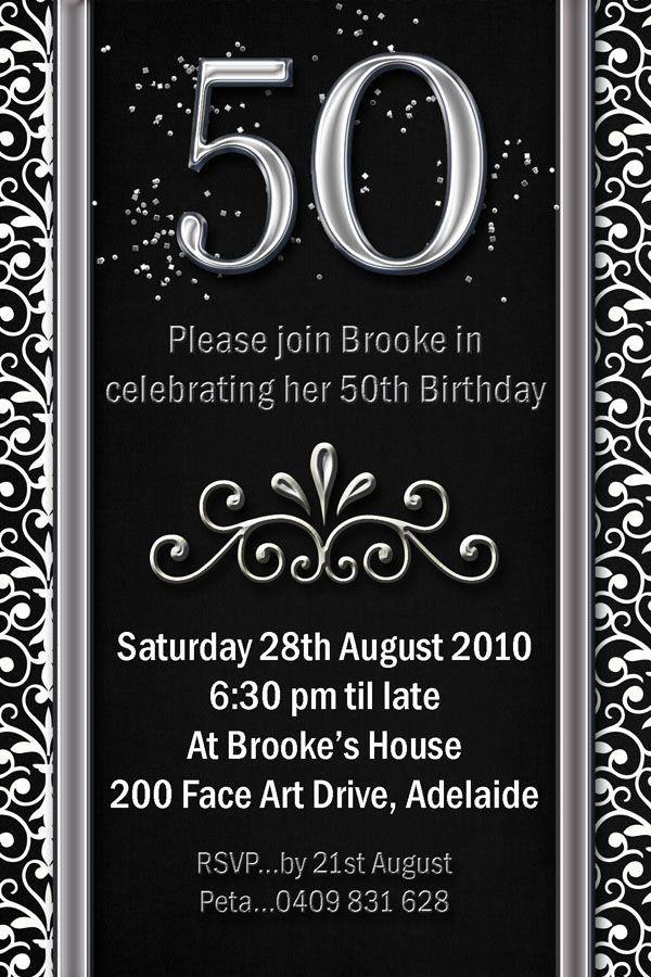 50th Birthday Invitation Card Luxury Example 50th Birthday Invitations Flower P 50th Birthday Party Invitations Party Invite Template 21st Birthday Invitations