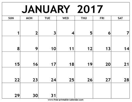 25+ unique January 2017 printable calendar ideas on Pinterest - free printable calendar