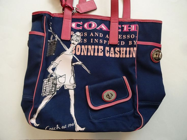 http://www.ebay.com/itm/Ltd-Ed-Coach-Bonnie-Cashin-Tote-Bag-Purse-Handbag-Navy-Pomegranate-Pink-Novelty-/302266618881?hash=item46607e9401:g:D24AAOSwsW9Y2wud