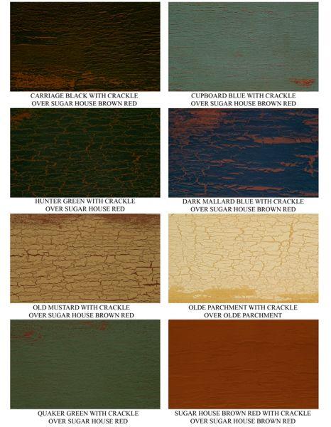 Crackle Paint Finish Colors