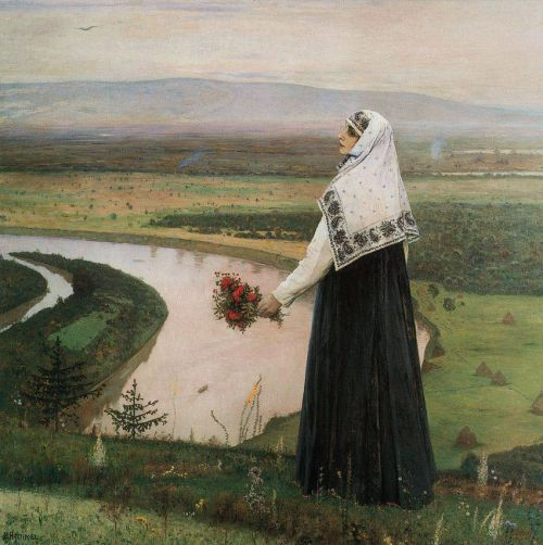 On the Mountains, 1896 Mikhail Nesterov