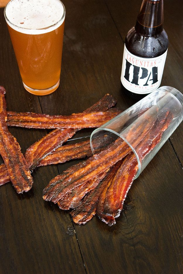 Let the bacon cool to room temperature, then serve. | Here's How To Make Beer-Glazed Bacon