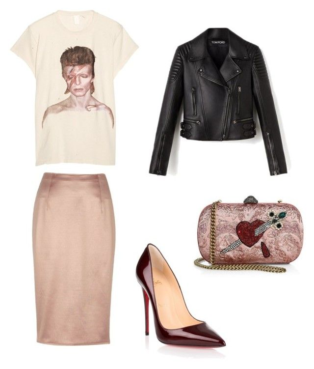Untitled #613 by lifeaskylie on Polyvore featuring polyvore fashion style MadeWorn River Island Christian Louboutin Gucci clothing