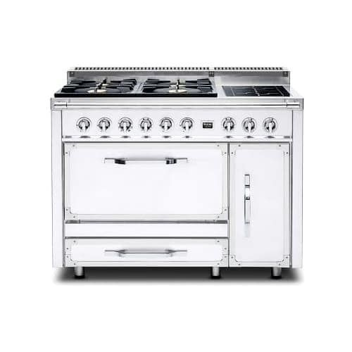 Viking TVDR4804F 48 Inch Wide 6.2 Cu. Ft. Free Standing Dual Fuel Range with SureSpark Ignition System , Four Natural Gas (