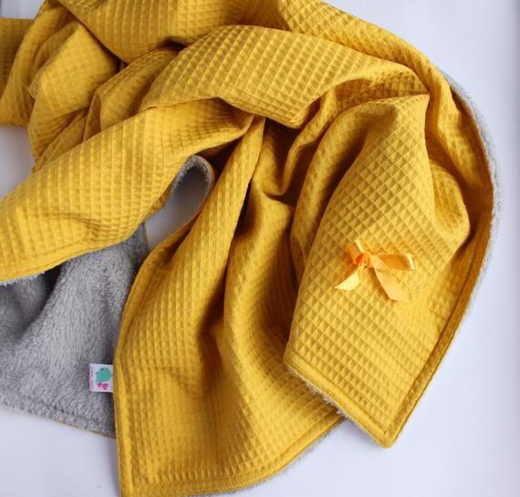Mustard Yellow Baby Plush Blanket Gender Neutral Toddler Blanket Neutral Baby Blanket Waffle Baby Blanket Neutral Baby Blankets Baby Plush Baby Boy Gifts