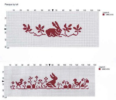 2 rabbit borders free chart from luli