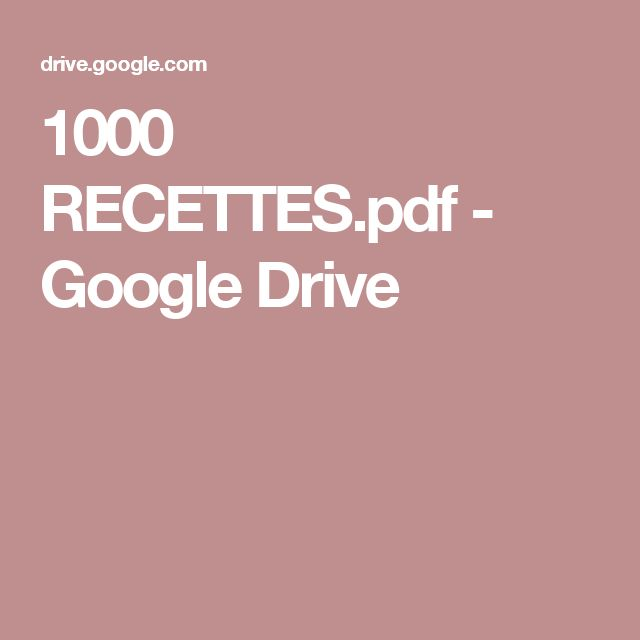 1000 RECETTES.pdf - GoogleDrive