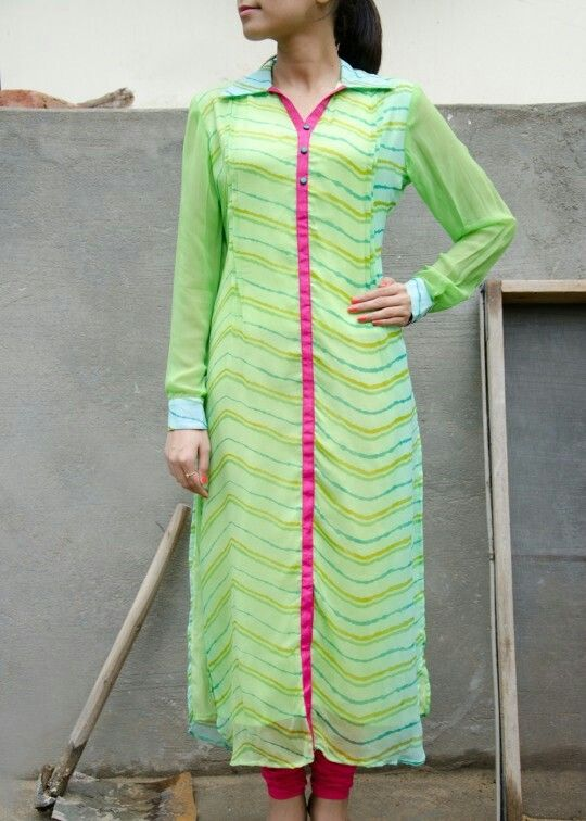 ..long georgette kurti for young girls...