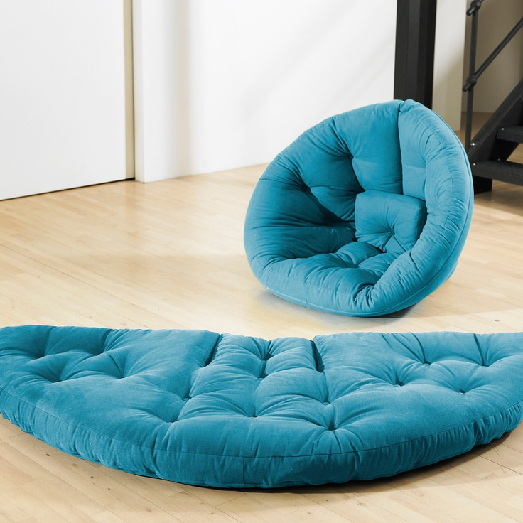"How couuuuoool, Fab.com   Nest Futon 84"" Horizon BlueIdeas, Lounges Chairs, Fab Com, Nests Futons, Futons Nido, Fresh Futons, Furniture, Products, Design"