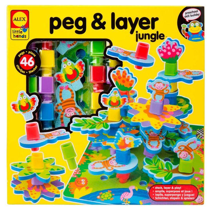 Alex Toys Little Hands Peg & Layer Jungle