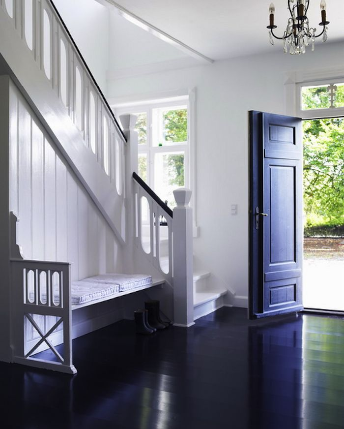 Painting The Floor White: 172 Best Images About Stairways And Foyers On Pinterest