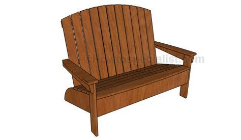 Adirondack bench plans | HowToSpecialist - How to Build, Step by Step DIY Plans