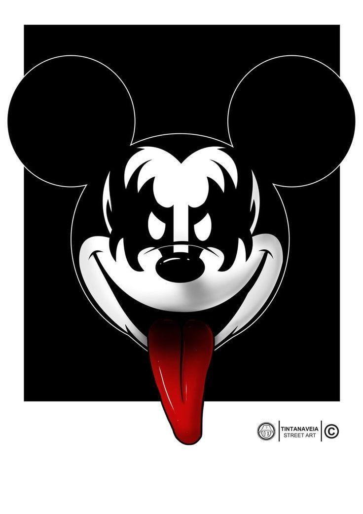 Sélection de la semaine, #WTF, #Cosplay, #Geek, #FunFacts, #Design, #Photographie, #Vrac - Illustration – Mickey Mouse du groupe Kiss