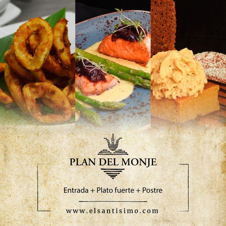Conoce nuestro Plan del Monje: entrada, plato fuerte y postre. #ElSantísimo #Cartagena #Food #Foodie #CartagenaFoodie #Yummy