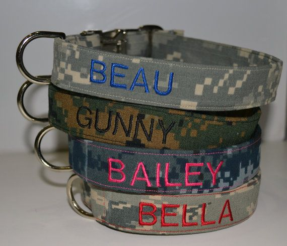 **PLEASE SPECIFY YOUR DOGS NAME AND WHICH TYPE OF CAMO YOU WOULD LIKE IN THE NOTE TO SELLER SECTION (i.e. Navy NWU, Army ACU, Marine MARPAT or