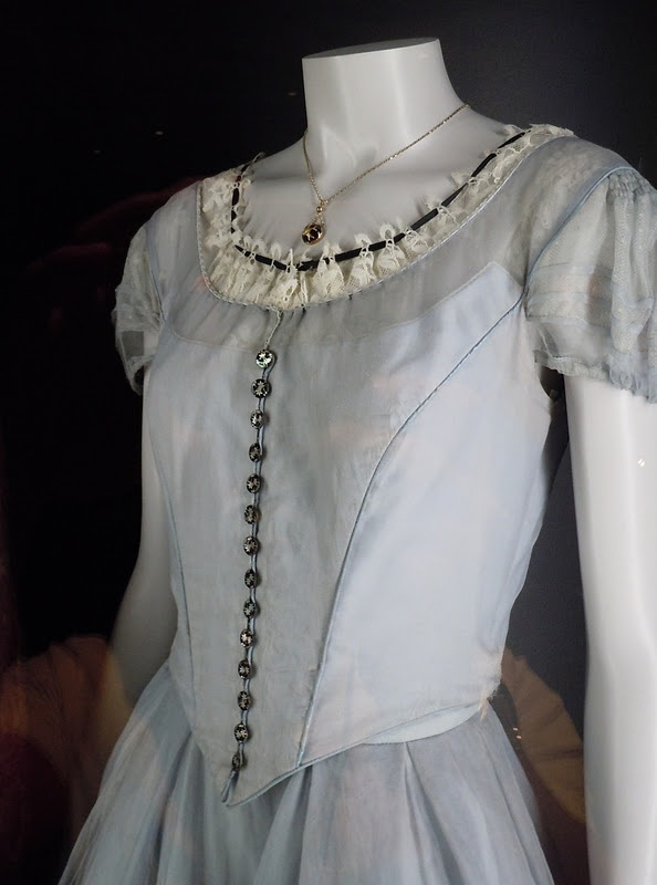 "Alice's blue dress from the ""Alice in Wonderland"" movie (close-up)"