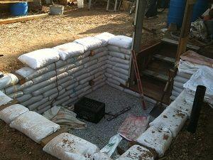 DIY earth bag root cellar