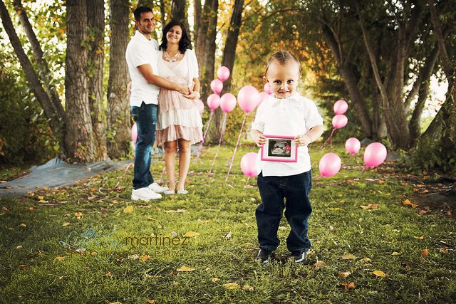 Gender reveal with big brother. LOVE!